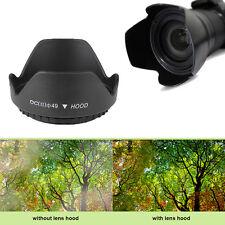 49mm Universal Blumenblatt Sonnenblende Gegenlichtblende für DSLR SLR Kamera
