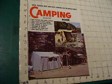 Vintage magazine: CAMPING GUIDE: 1961 july; Back Packing; foam mattress, Canada