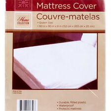 2 QTY QUEEN SIZE MATTRESS COVER Extra Soft Plastic Fitted Protector Waterproof