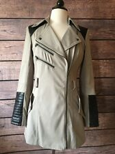 NWT Guess Moto Jacket Coat Tan and Black | Size Small