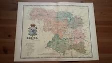 1903 MAPA de Zamora 1901  por Benito Chias y Carbo (Spain Map España Spagna)