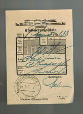 1940 Neusandez Germany Auschwitz KZ Concentration Camp Cover Money Order Receipt