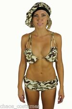 SEXY ARMY DEFENCE FORCE MILITARY UNIFORM CAMOUFLAGE HALLOWEEN COSTUME 6 8 10