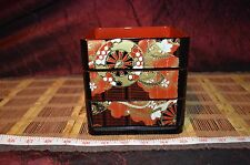 Vintage Hard Plastic Japanese Style 3 Story Stacking Bento Box With Carrier