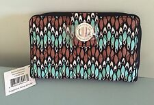 NWT Vera Bradley Turn Lock Wallet in Sierra Stream Clutch $49 Free ship