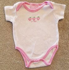 DUCK DUCK GOOSE 0-3 MONTH PINK STRAWBERRY BODYSUIT ADORABLE
