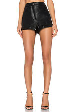 Evil Twin Nightshade Black Leatherette High Waisted Shorts New M L