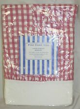 Pine Cone Hill Large Gingham Bedskirt Twin Pink White Dust Ruffle New Checkered