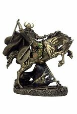 "10.75"" Norse Viking Warrior on Rearing Horse Statue Sculpture Figure Figurine"