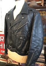 VINTAGE 50's SPORTCLAD HORSEHIDE LEATHER D POCKET MOTORCYCLE JACKET MEN'S