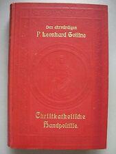 Christkatholische Handpostille 1921 sonn- festtäglichen Episteln Evangelien