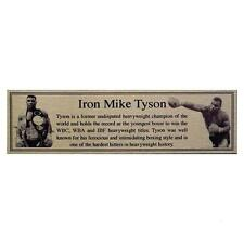Mike Tyson Gold Metal Plaque Nameplate For Signed Boxing Glove or Trunks
