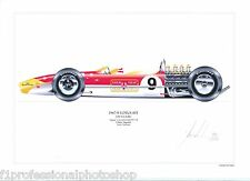 Jim Clark ltd.ed.signed art print- 1967/8 Lotus 49T