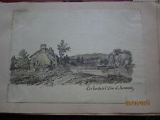 Dessin situé les bords de l'Oise à  Morancy(Boran sur oise ),maison, non signé .