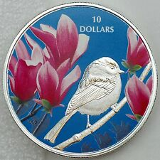 2017 $10 Birds Among Nature's Colors: Chickadee, 1/2 oz. Pure Silver Color Proof