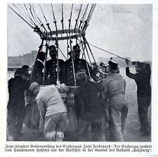Ballonaufstieg Erzherzog Josef Ferdinand + Hptm.Hoffory * Ballon SALZBURG * 1908