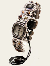 INFINITY:WOMEN'S ANTIQUE STRETCH SEMI PRECIOUS COLOR STONES  ANALOG QUARTZ WATCH