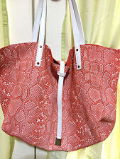 Tiffany & Co - Reversible Shoulder Bag / Pouch in Orange Suede & Python Leather