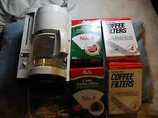 Krups Heliora 10-cup type-369 coffee maker+carafe pot & 1600 bran new #4 filters