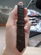HANDMADE 100% GENUINE CROCODILE 20mm Dark Brown LEATHER WATCH STRAP BAND _ws189