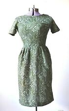1950s Dress Green Dress Wiggle Dress Small XS Dress Wool