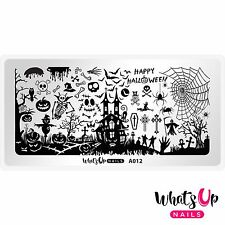 A012 Happy Halloween Stamping Plate For Stamped Nail Art Design
