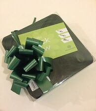 10 Green Quick Bow Pull Ribbons 30mm Party Decorations Wedding Christening Xmas