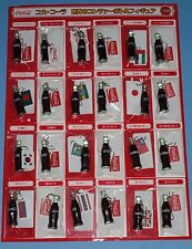 Coca Cola World Contour Bottle Figure Key Chain set of 24