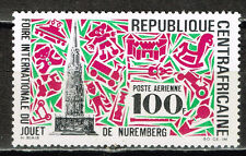 Central African Rep. Architecture Nuremberg Kirche Map stamp 1969 MLH