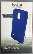 GENUINE TECH21 IMPACT TACTICAL COVER FOR SAMSUNG GALAXY S5 S5 Neo T21-4023 BLUE