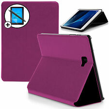 Purple Clam Shell Smart Case Cover Samsung Galaxy Tab A 10.1 Screen Prot Stylus