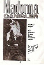 MADONNA Gambler UK magazine ADVERT / Poster/ clipping 11x8 inches