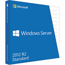 Microsoft Windows Server 2012 R2 Standard 1 Client Full Software Digitally Sent