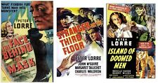 FACE BEHIND THE MASK,STRANGER ON THE THIRD FLOOR,ISLAND OF DOOMED MEN LORRE