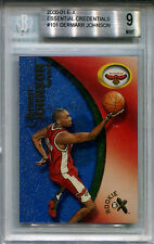 2000-01 E-X DERMARR JOHNSON Essential Credentials Future RC Rare SP #/21 BGS 9