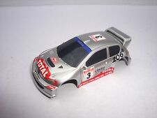 BRAND NEW MICRO SCALEXTRIC  PEUGEOT 206 RALLY CAR  SHELL IN SILVER