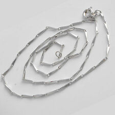 Delicate  Silver/White Gold Plated Womens Needle Chain Necklace 17.7 Inch