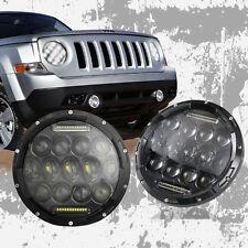 7 Zoll Auto Motorrad 75W LED Scheinwerfer Lampe Fernlicht Für Harley Jeep Hummer