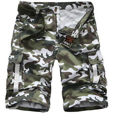 Mens Casual Army Cargo Combat Camo Camouflage Sports Pants NEW Overall Shorts
