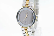 NWOT Ladies Rado Crysma R41761103 Two Tone St Steel Gray Dial w/ Date Watch