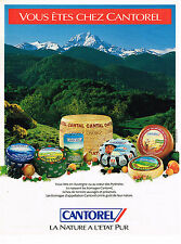 PUBLICITE ADVERTISING 124  1992  CANTOREL   fromage d'AUVERGNE