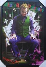 THE JOKER HEATH LEDGER WHY SO SERIOUS MOVIE COVER FRAMED POSTER