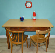 vintage großer Küchentisch Holz Eßtisch Basteltisch mit 2 Schubladen Werktisch