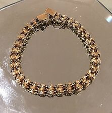 10K Solid Yellow Gold Chain Bracelet 10.3 grams  8.5 inches