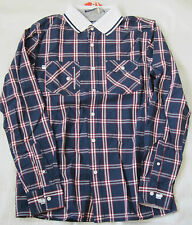 NWT FOX Plaids & Checks Shirt with contrast white collar Size M