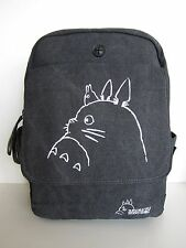 Ghibli Totoro Canvas Bag High Quality Rucksack Satchel Anime School Backpack