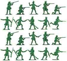 Accurate U.S Militia set #2 - 20 unpainted 54mm toy soldiers in green color