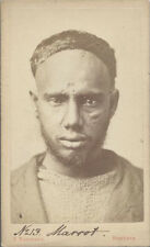 CDV PORTRAIT OF YOUNG AFRICAN MAN W/ FACIAL SCARS - HAMBURG, GERMANY