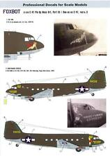 Foxbot Decals 1/72 DOUGLAS C-47 PIN-UP NOSE ART The Jinx & Honeymoon Express
