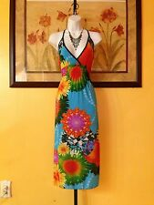 NWOT  Exotic Floral Maxi Dress Size S/M